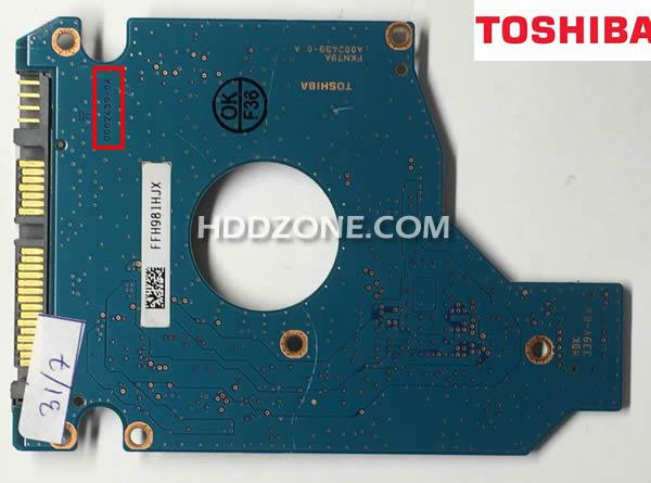 Toshiba Laptop Hard Drive Sata HDD G002217A MK1652GSX PCB Board